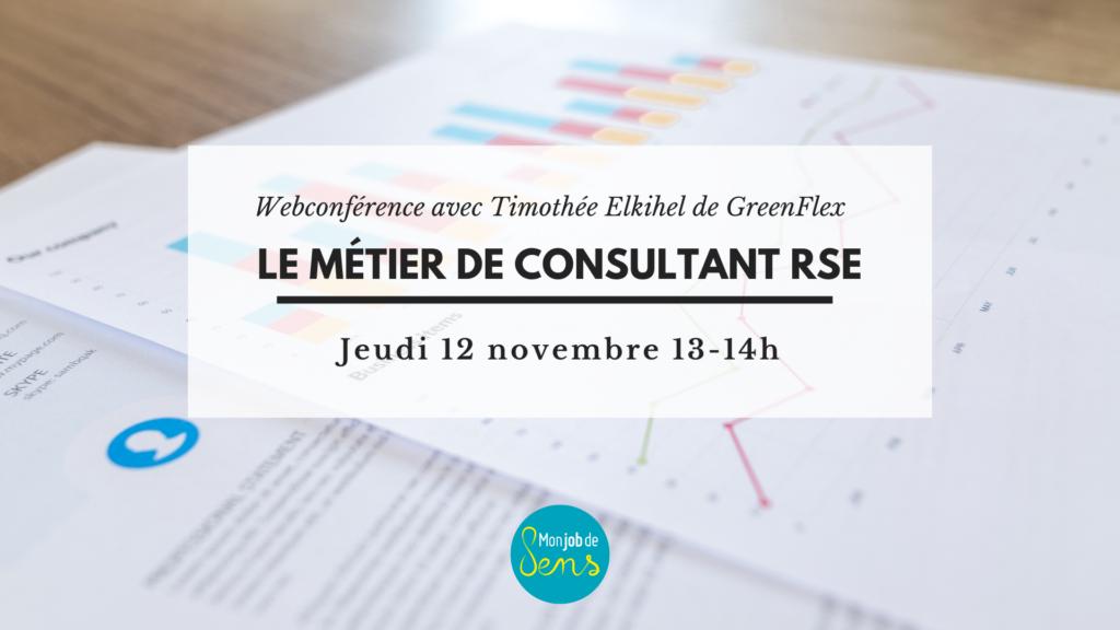 Webconférence : le métier de consultant RSE