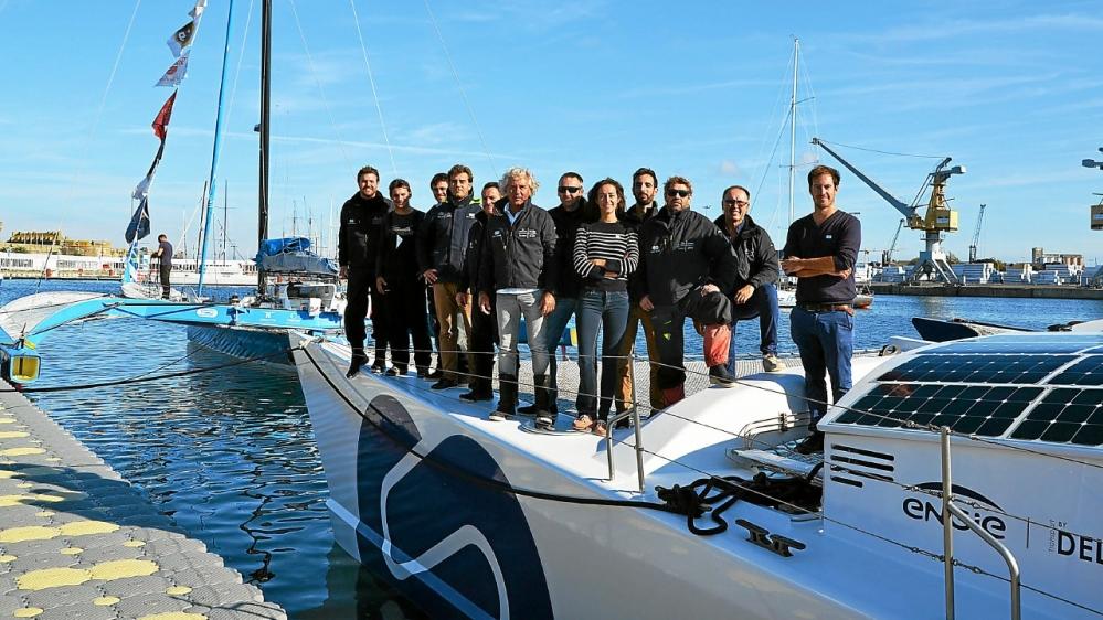 l'équipe Energy Observer à bord du bateau