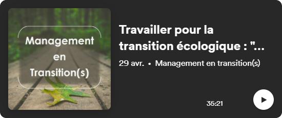 travailler pour la transition écologique